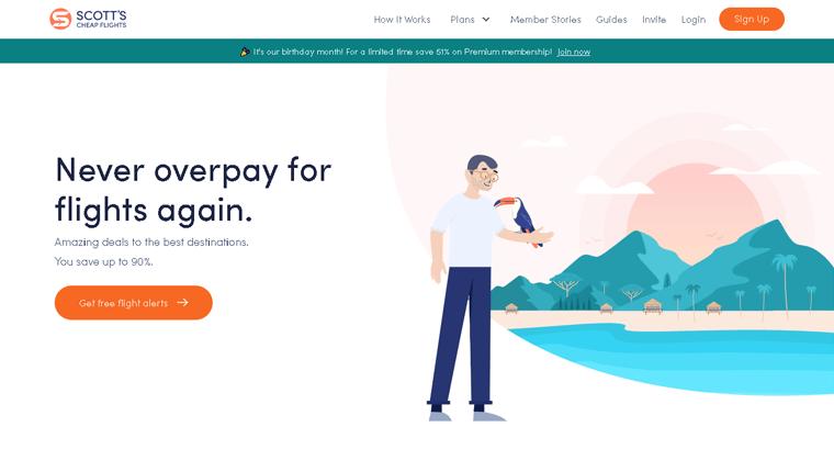Scott's Cheap Flights Membership Website