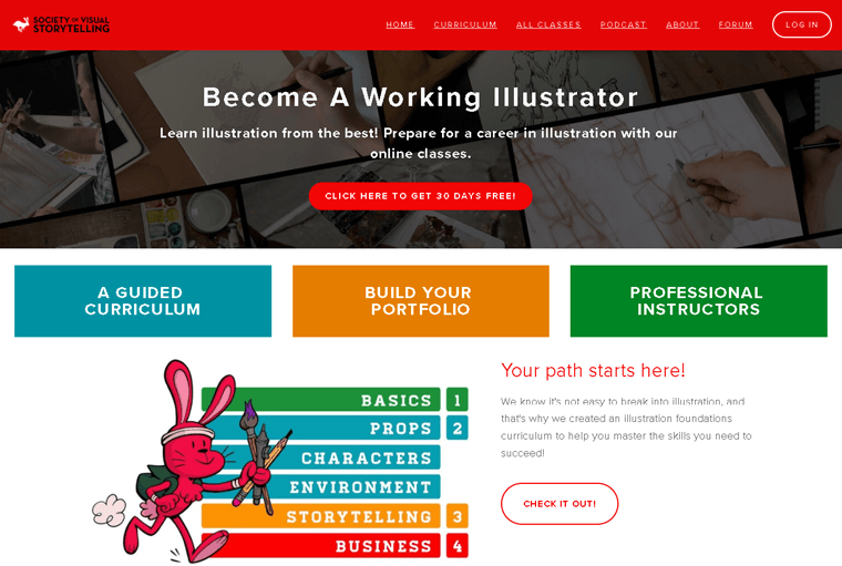Society of Visual Storytelling Membership Site