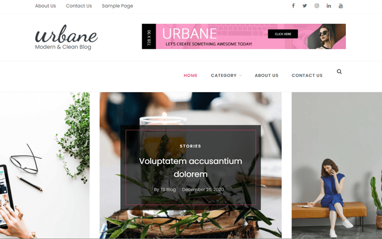Urbane online magazine templates