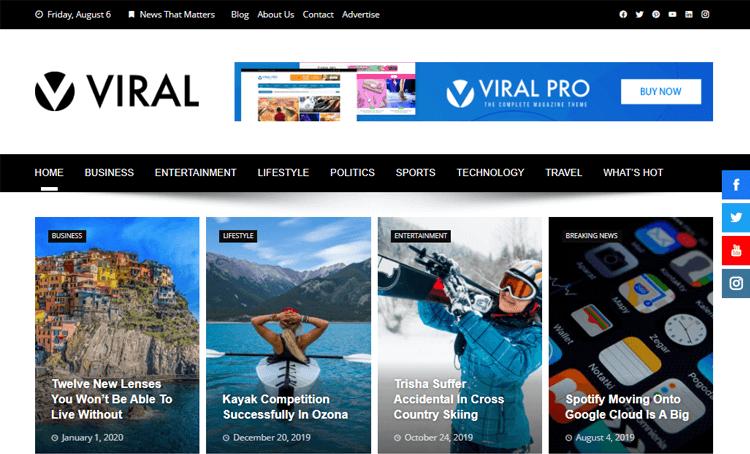 Viral magazine layout