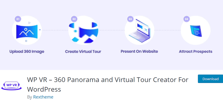 WP VR WordPress real estate virtual tour plugin
