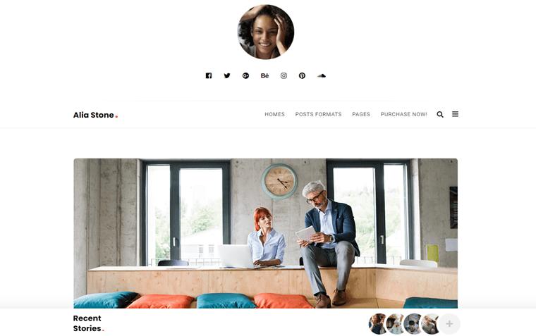 Alia Personal Portfolio WordPress Theme
