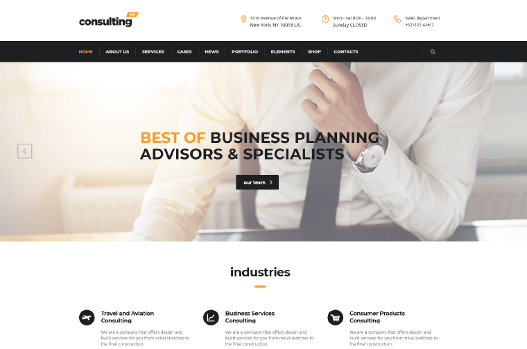 ConsultingTheme finance business Theme