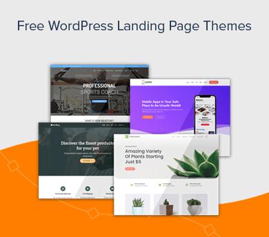 Free WordPress Landing Page Themes Handpicked