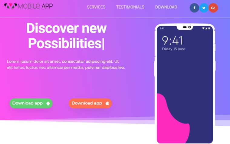 Futurio Landing Page Themes
