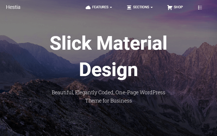 Hestia for Landing Page