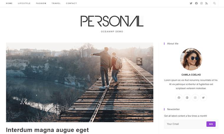 OceanWP Personal Website WordPress Theme