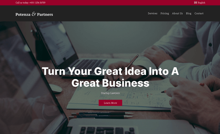 Potenza financial business and consultant WordPress Theme
