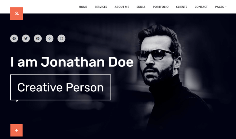 Selfer Personal Portfolio WordPress Theme