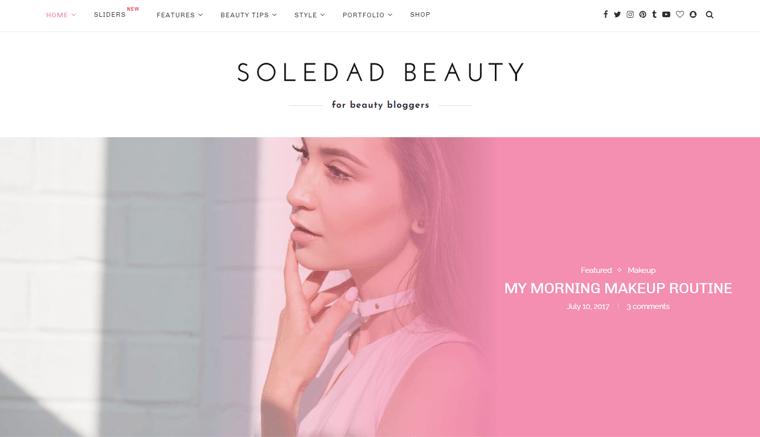 Soledad Beauty Blog WordPress Theme