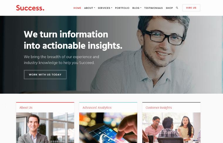SuccessTheme financial consulting WordPress theme