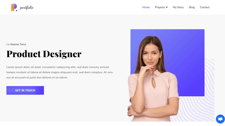 Zakra Personal Website WordPress Theme