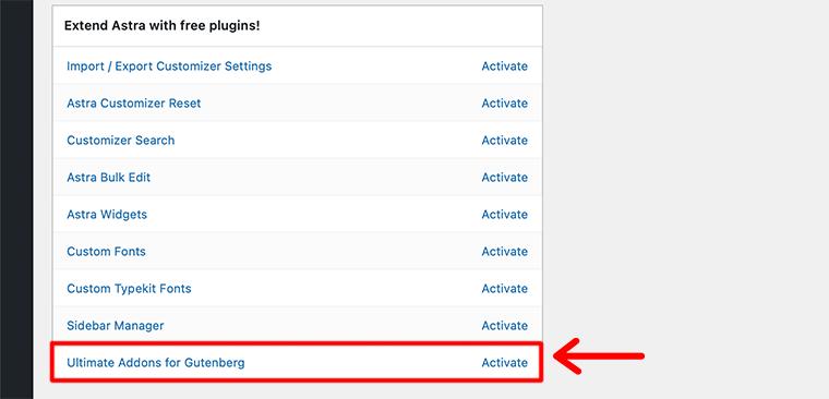 Activate UAG Plugin