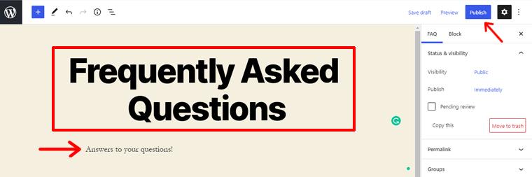 Add New FAQs