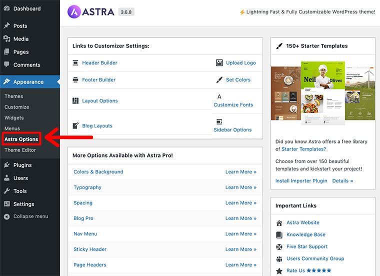 Astra Options