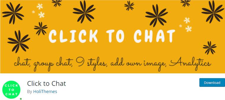 Click to Chat Free WordPress Plugin