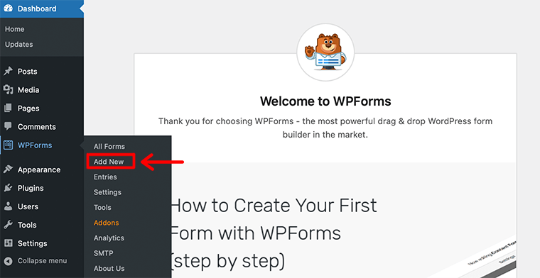 Create WPForms
