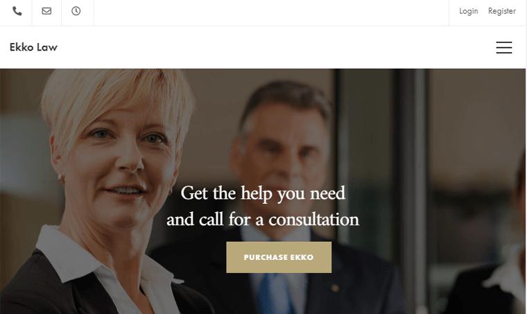 Ekko-Theme lawyer website template wordress