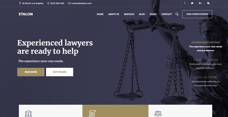 Etalon-Theme-theme WordPress themes for lawyer