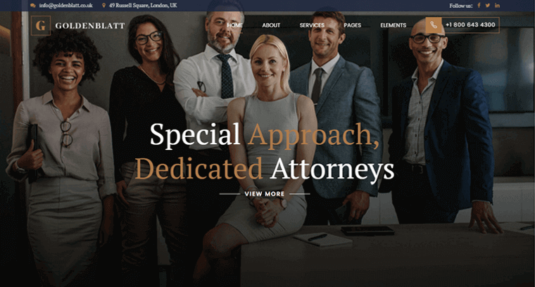 Goldenblatt-Theme law office wordpress theme