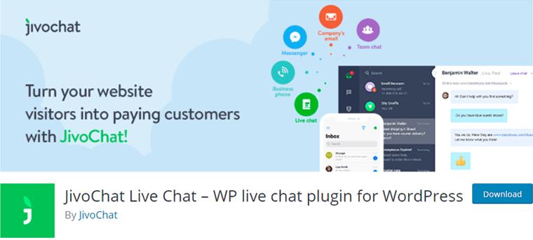 JivoChat Live Chat Plugin of WordPress