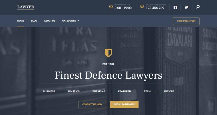 Lawyer WordPress Theme by MyThemeShop