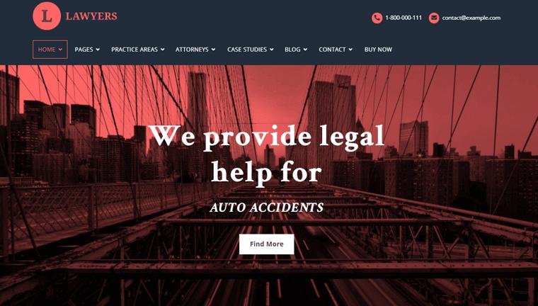 Lawyers-Theme advocate wordpress theme