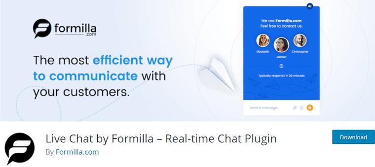 Live Chat by Formilla WordPress Plugin