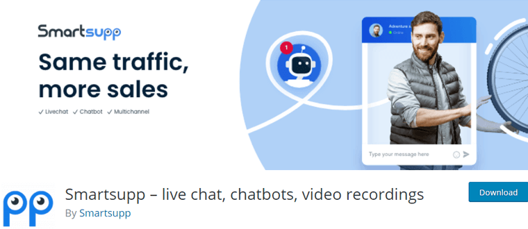 Smartsupp Free LiveChat Plugin