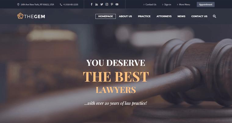 TheGem-Theme law wordpress theme
