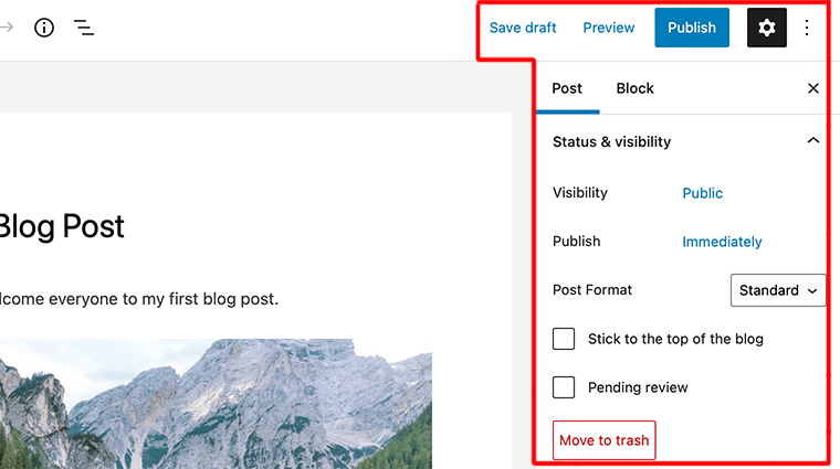 WordPress Publishing Options