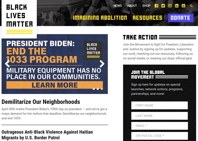 Black Lives Matter- impressive WordPress websites