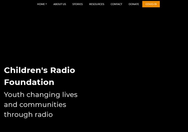 Children's Radio Foundation-impressive WordPress websites