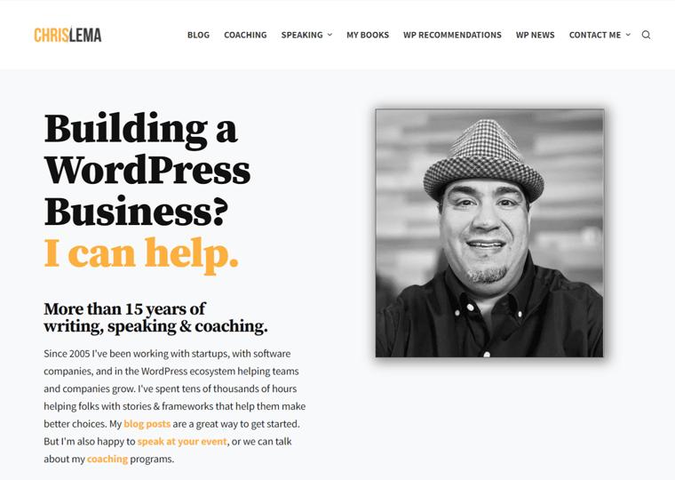 Chris Lema- WordPress site examples