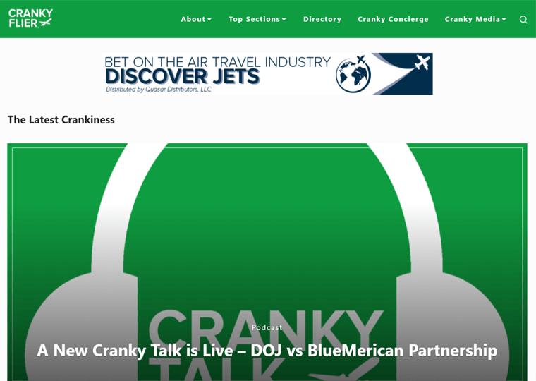 Cranky Flier-WordPress blog examples