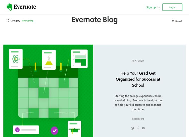 Evernote Blog-WordPress site examples