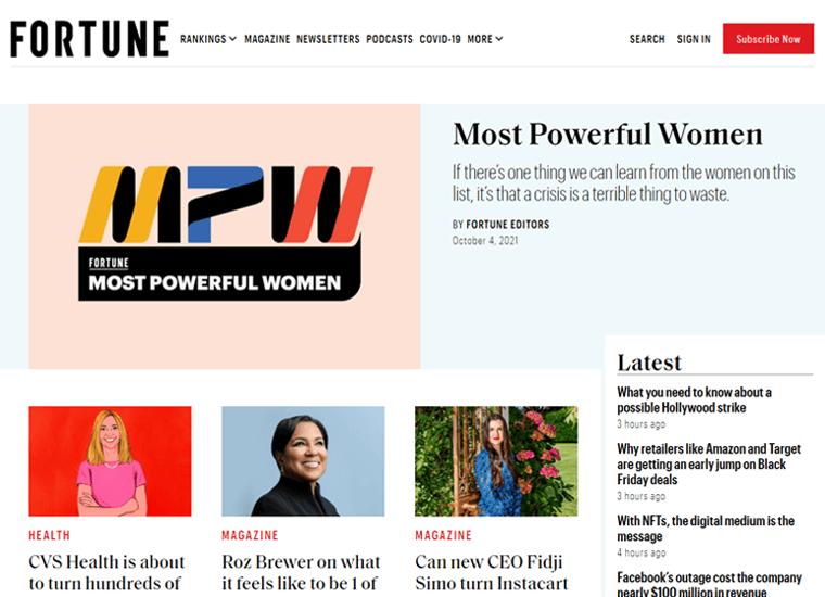 Fortune-WordPress website examples