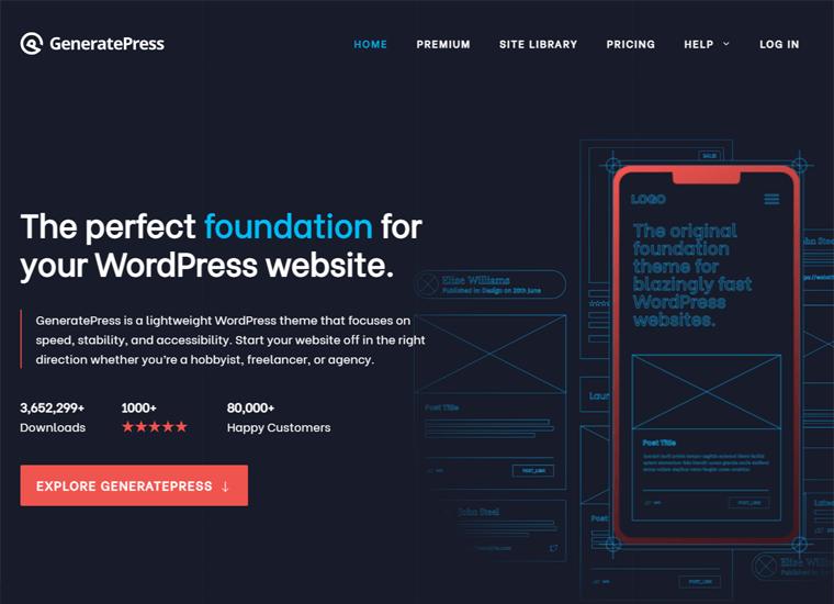GeneratePress -WordPress site examples