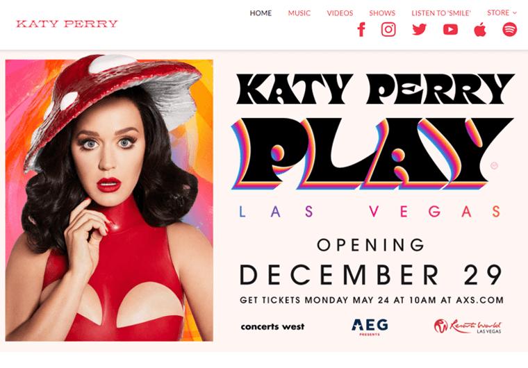 Katy Perry-best WordPress websites