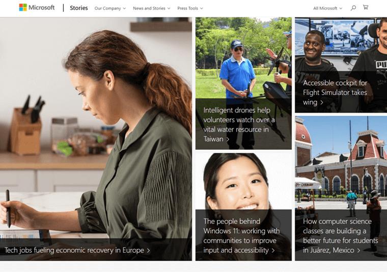 Microsoft News-WordPress site examples