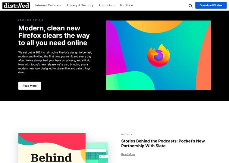 Mozilla Blog-best WordPress websites