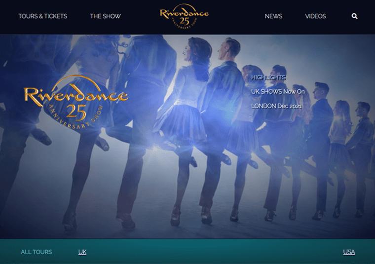 Riverdance- WordPress site examples