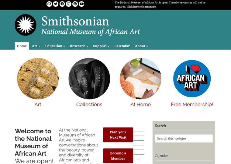 Smithsonian-WordPress site examples