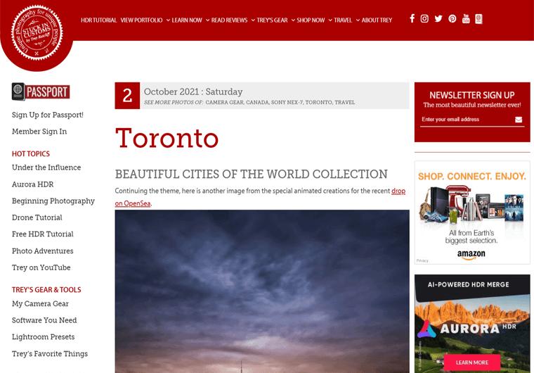 Stuck in Customs-WordPress site examples