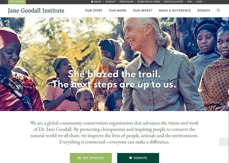 The Jane Goodall Institute-WordPress site examples