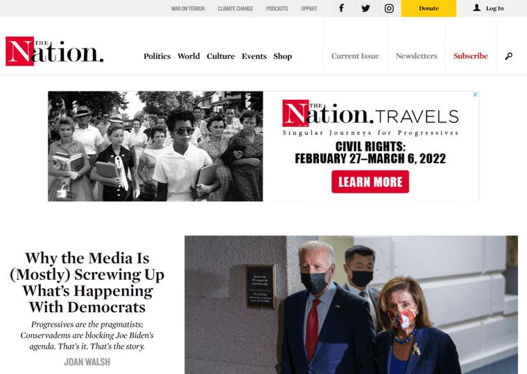 The Nation-magazine websites using WordPress