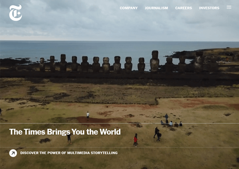 The New York Times-WordPress website examples