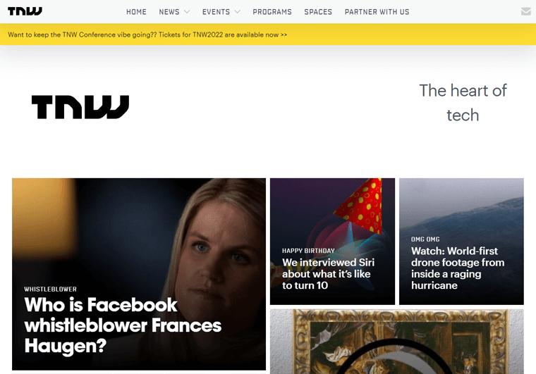 The Next Web-WordPress site examples