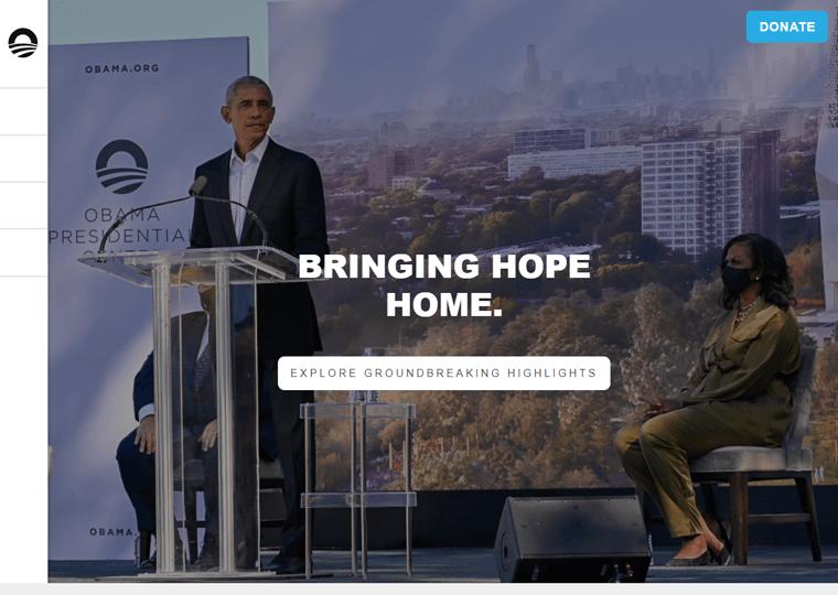 The Obama Foundation-WordPress site examples