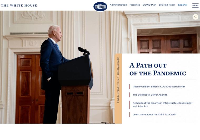The White House- WordPress site example